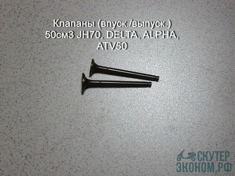 Клапаны (впуск./выпуск.) 50см3 JH70, DELTA, ALPHA, ATV50