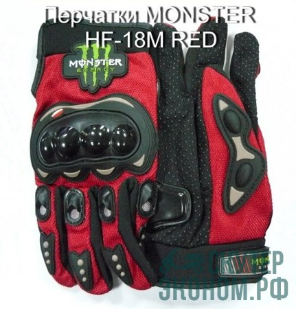 Перчатки MONSTER  HF-18M RED