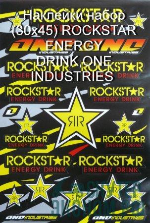 Наклейки набор (30x45) ROCKSTAR ENERGY DRINK,ONE INDUSTRIES