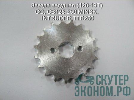 Звезда ведущая (428-19T) CG, CB125-250,MINSK,INTRUDER,TTR250
