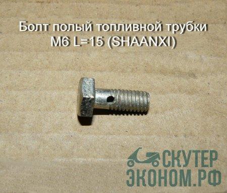 Болт полый топливной трубки M6 L=15 (SHAANXI)