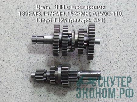 Валы КПП с шестернями 139FMB,147FMH,152FMH; ATV50-110, Dingo T125 (реверс, 3+1)