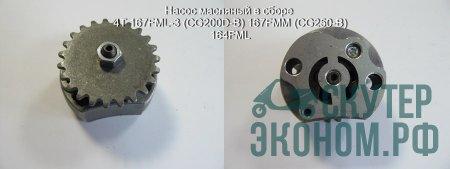 Насос масляный в сборе 4Т 167FML-3 (CG200D-B) 167FMM (CG250-B) 164FML