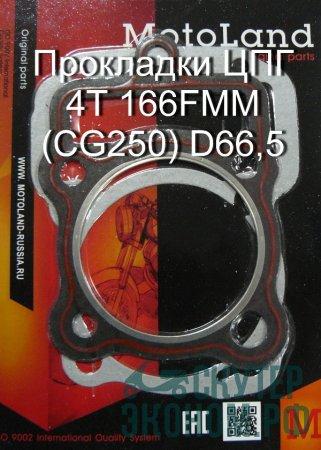 Прокладки ЦПГ 4Т 166FMM (CG250) D66,5
