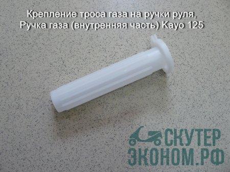 Крепление троса газа на ручки руля,Ручка газа (внутренняя часть) Kayo 125