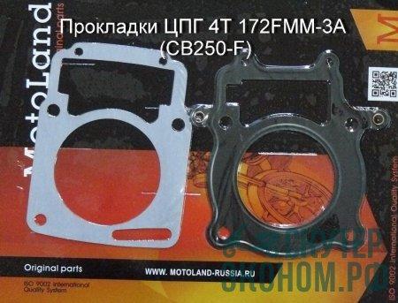 Прокладки ЦПГ 4Т 172FMM-3A (CB250-F)